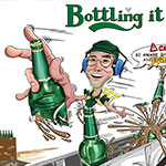 Carlsberg bottle hazard health and safety poster