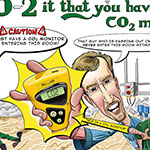 Carlsberg co2 monitor health and safety poster