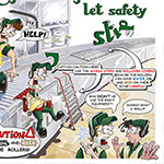 Carlsberg keg danger health and safety poster