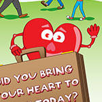 Daventry council leaflet promoting bring your heart to work day