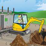 SSE contaminated land health and safety poster