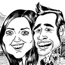 pen and ink caricature icon image