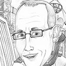 pencil caricature icon image